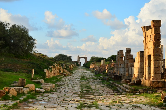 Las ruinas de Leptis Magna. Libia