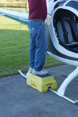 An Aircraft Step Stool For Helicopters
