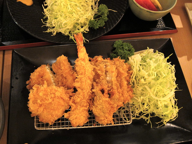 Mixed seafood katsu