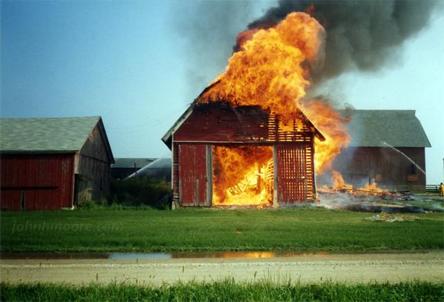 Barn Fire - 1990 | Flickr - Photo Sharing!