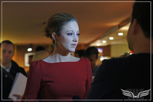The Establishing Shot : Resistance Premiere -  Andrea Riseborough - Curzon Mayfair by Craig Grobler