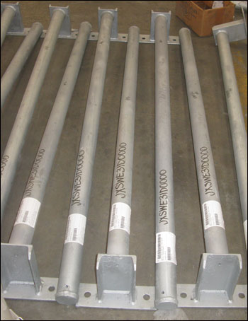 Custom Instrument Supports Fabricated from Hot Dipped Galvanized Carbon Steel