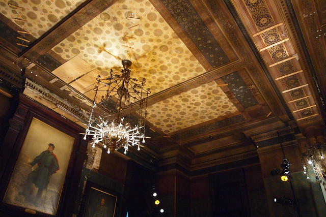 View of the ceiling in the Board of Officers Room at the Park Avenue Armory