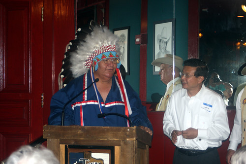 East meets west, Comanche Nation Chief