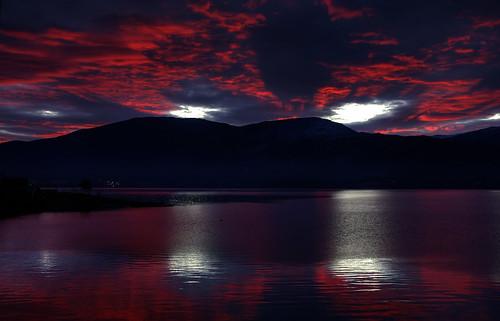 無料写真素材, 自然風景, 山, 海, 朝焼け・夕焼け, 風景  ノルウェー