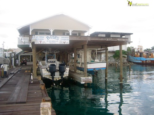 Water Supermarket on Luxury Resort on Utila Honduras