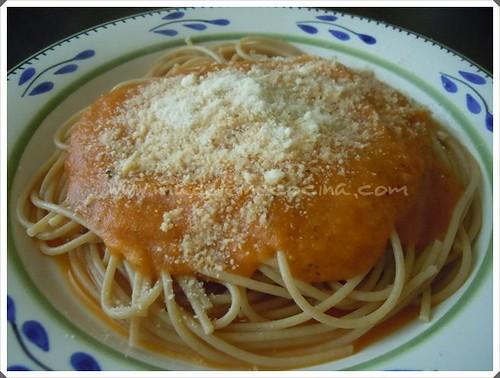 pasta con salsa