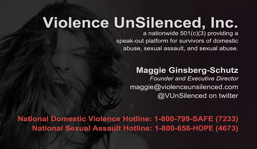 Violence UnSilenced business card, back