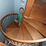 Finishing the spiral stairs