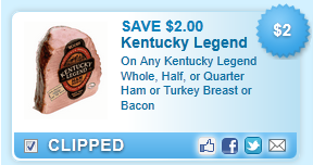Kentucky Legend Whole, Half, Or Quarter Ham Or Turkey Breast Or Bacon  Coupon