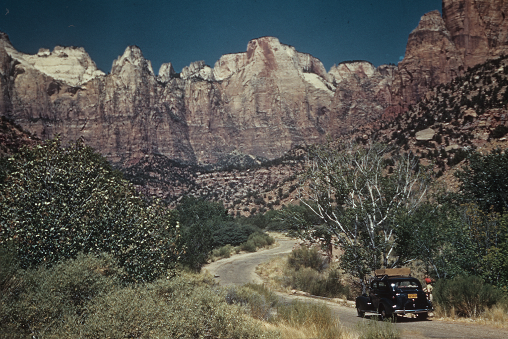 Winding Through Zion's Tower of the Virgins 1945