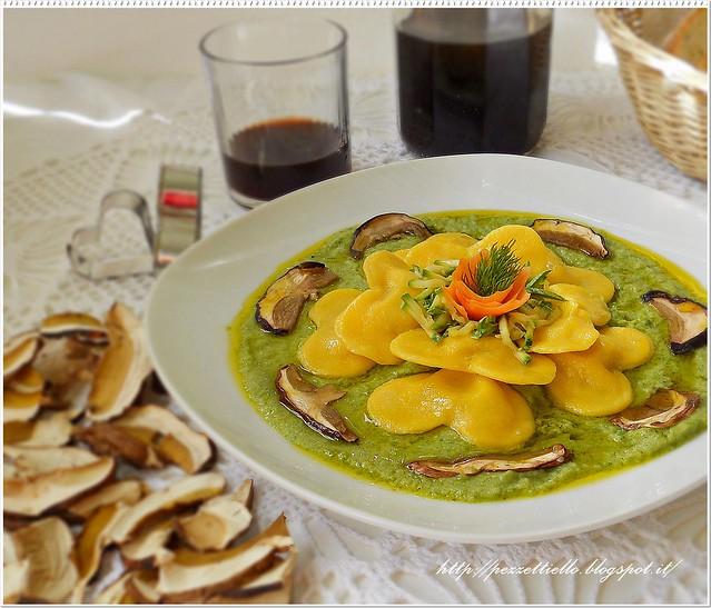 pasta Cuori ripieni in salsa tartufata