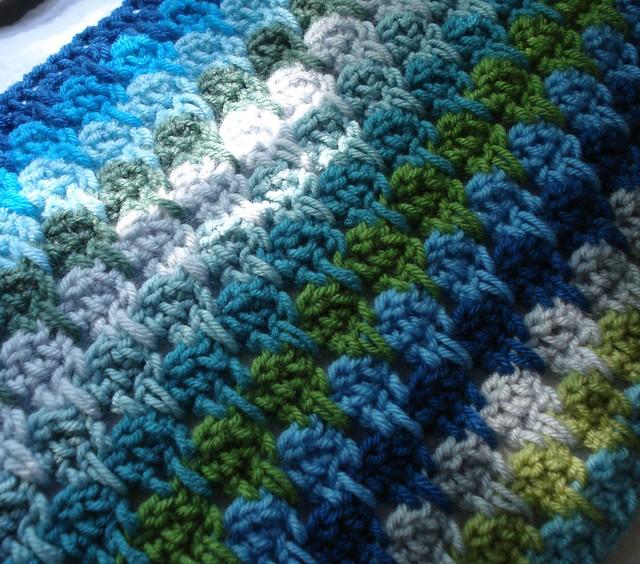 Larksfoot Crochet Afghan Pattern : Oceana Larksfoot Afghan in progress Flickr - Photo Sharing!
