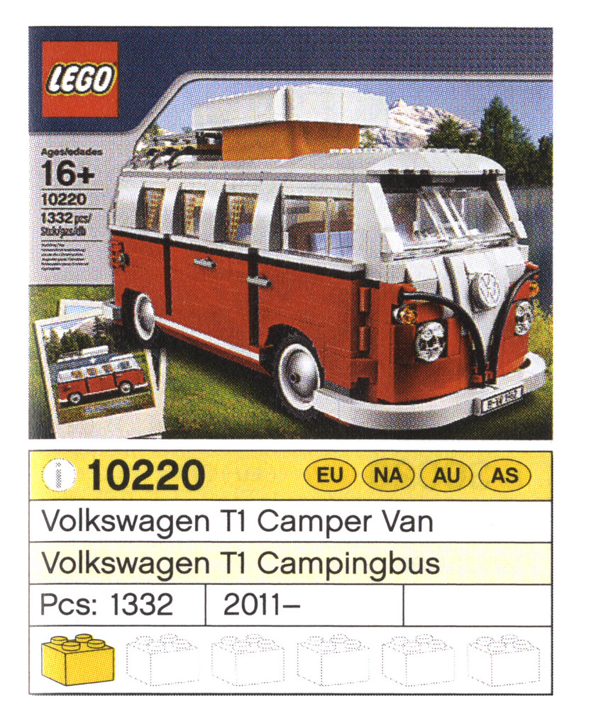 10220 volkswagen t1 camper van toysnbricks lego forums. Black Bedroom Furniture Sets. Home Design Ideas