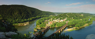 Harpers Ferry Panorama From Maryland Heights