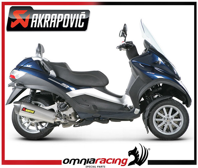 pot exhaust akrapovic inox piaggio catalytic mp3 500 lt 2008 08 15 ebay. Black Bedroom Furniture Sets. Home Design Ideas