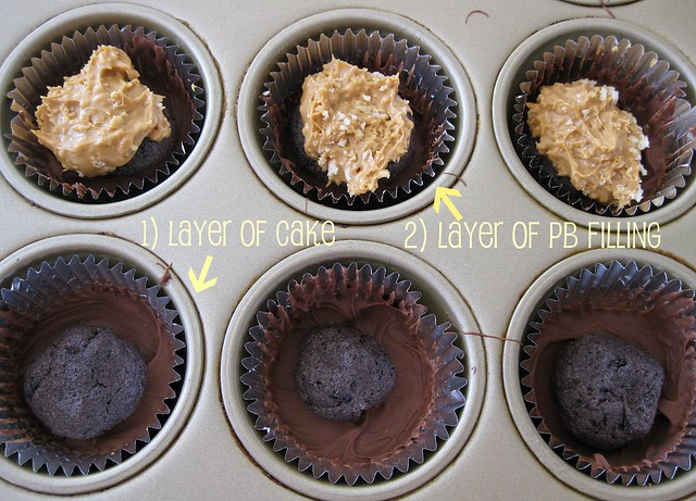 cake filled pb cups
