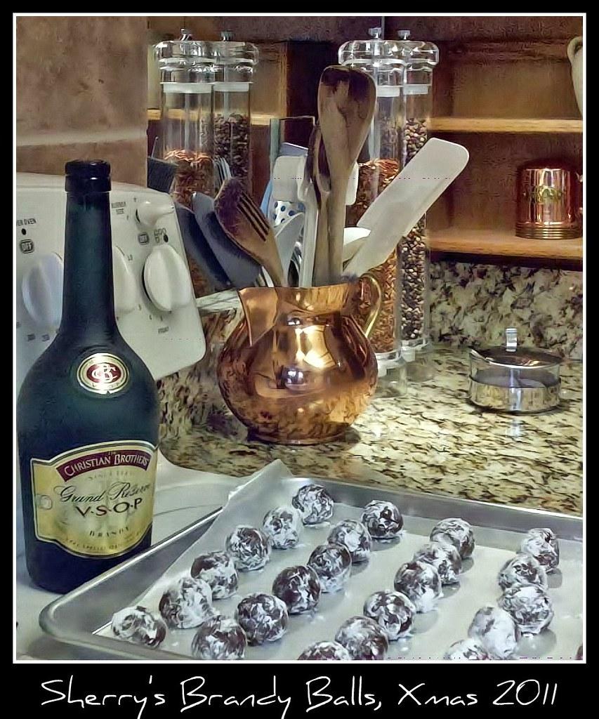 Xmas Cookies, Brandy Balls   Title: Erica's Favorite Rum/Bur ...