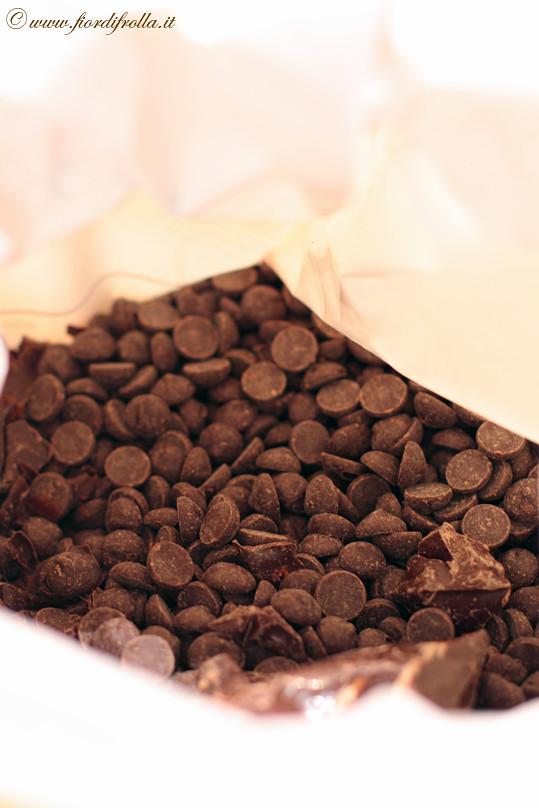 Gli ingredienti: cioccolato fondente al 53.8 %