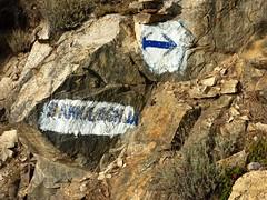 Sentier Fumicosa/Samulaghja : les balises bleues du chemin