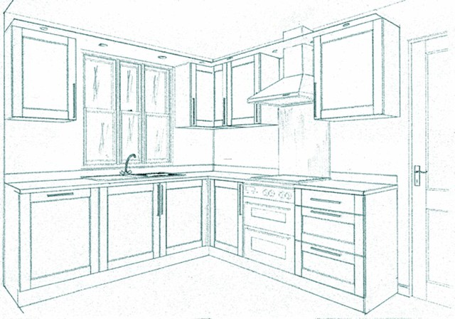 Kitchen floor plan designs flickr photo sharing for Planning a new kitchen