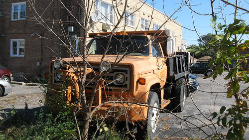 Old late 1970's era GMC dump truck.  Chicago Illinois USA. Saturday, October 15th, 2011. by Eddie from Chicago