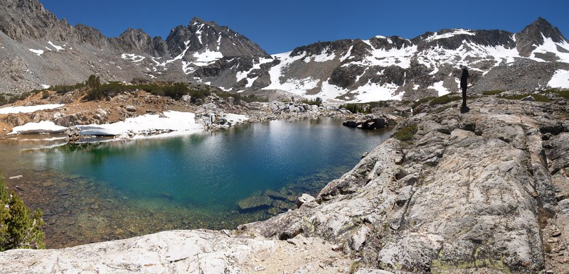 Bishop Pass Trail panorama - one of the smaller of the Bishop Lakes