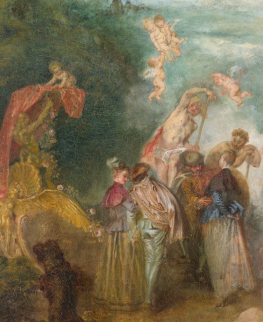 Antoine Watteau  The Embarkation for Cythera  Island    detail  1717Return From Cythera By Antoine Watteau