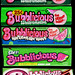 Watermelon Bubblicious evolutions - 1980's-to-today
