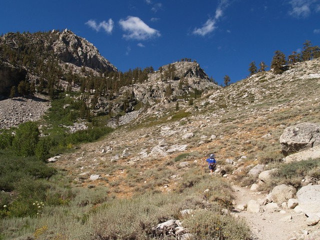 The beginning of the trail out of Onion Valley, climbing steadily.