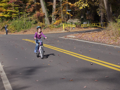 Erika riding her new bike