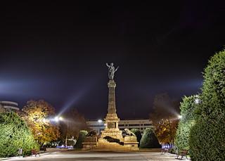 Image of Liberty Monument near Ruse. urban night citycenter hdr rousse monumentofliberty
