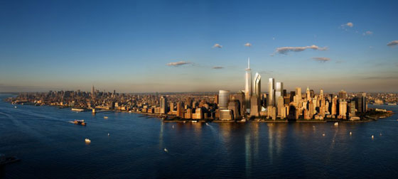Ground Zero Master Plan by Studio Daniel Libeskind. Photo: Silverstein Properties