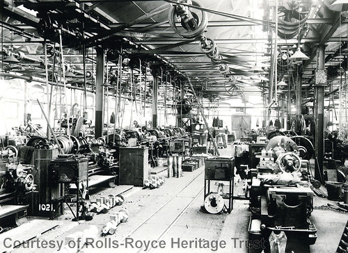 Inside Rolls-Royce Motor Works Derby 1910