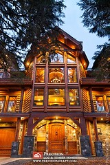 Custom Log Home by PrecisionCraft Log Homes | Located in Oregon