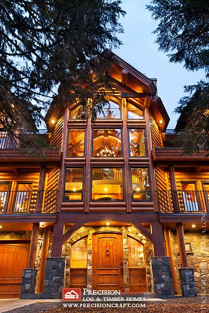 Custom Log Home by PrecisionCraft Log Homes Located in