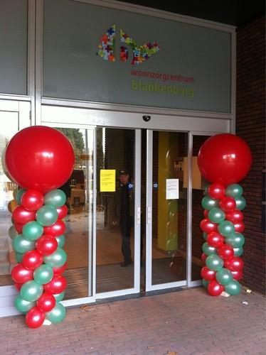 Ballonpilaar Breed Rond Woonzorgcentrum Blankenburg Rozenburg