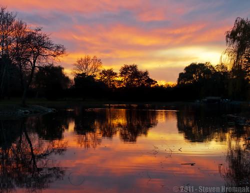 sunset pennsylvania pa allentown greatcolor cedarcreekpark lakemuhlenberg 13nov2011