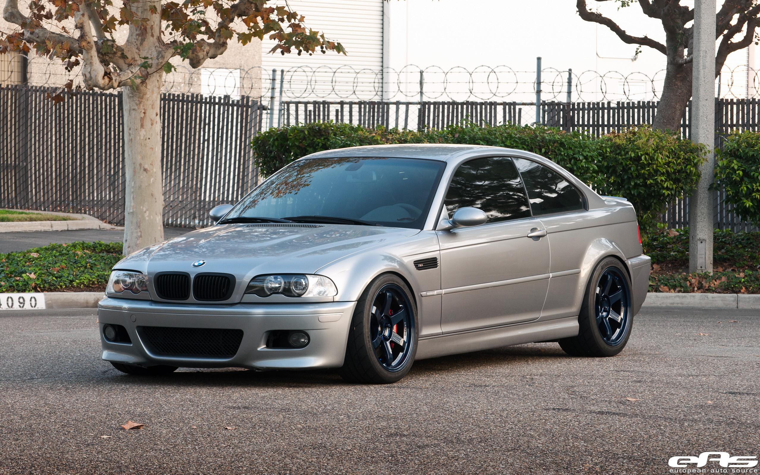 Silver Gray E46 M3 w/ Magnesium Blue Volk TE37SLs | BMW ...