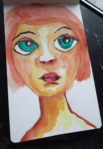 Watercolor Face #4 by literarytease