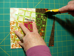 Wonky Log Cabin Block - step 6