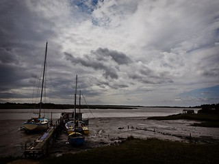 Boats on the river Colne