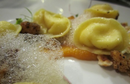 Pasta, sweet potato, coffee foam, Journeyman, Somerville