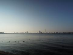 Kalter Tag an Hamburgs Außenalster
