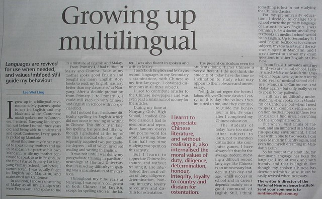 growing up multilingual
