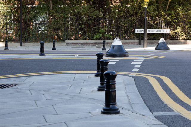 Wapping's smallest and possibly record breaking bollards