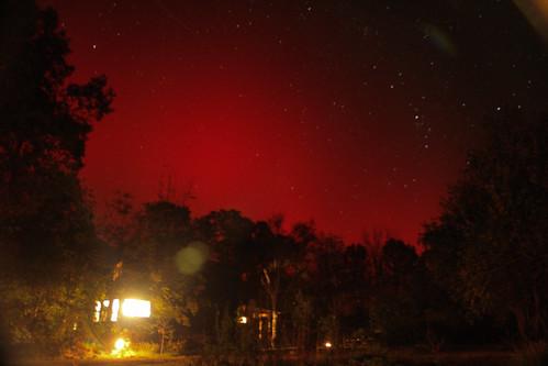 aurora borealis in the ozarks