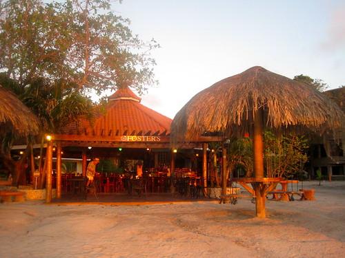 fosters sunset roatan honduras