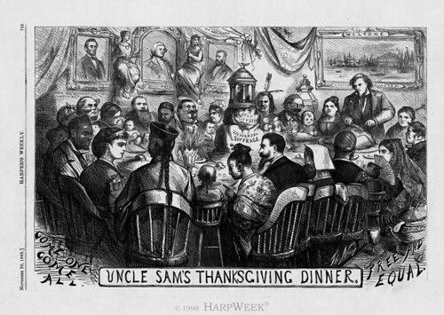UNCLE SAM'S THANKSGIVING DINNER by Colonel Flick