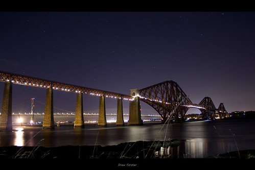 Rail Bridge at Night